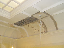 Restoration of coffered ceiling in a grade 2 listed property in Wakefield