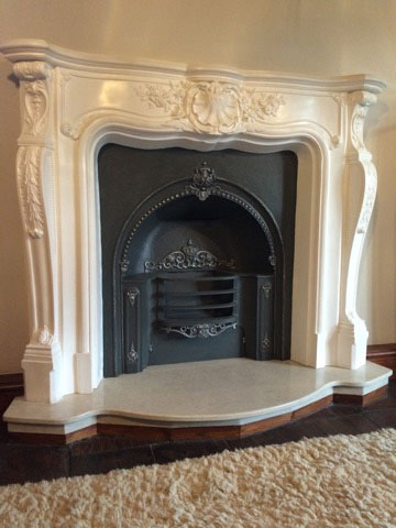 Plaster Fire Surrounds and marble backs and hearths from Plasterwrx