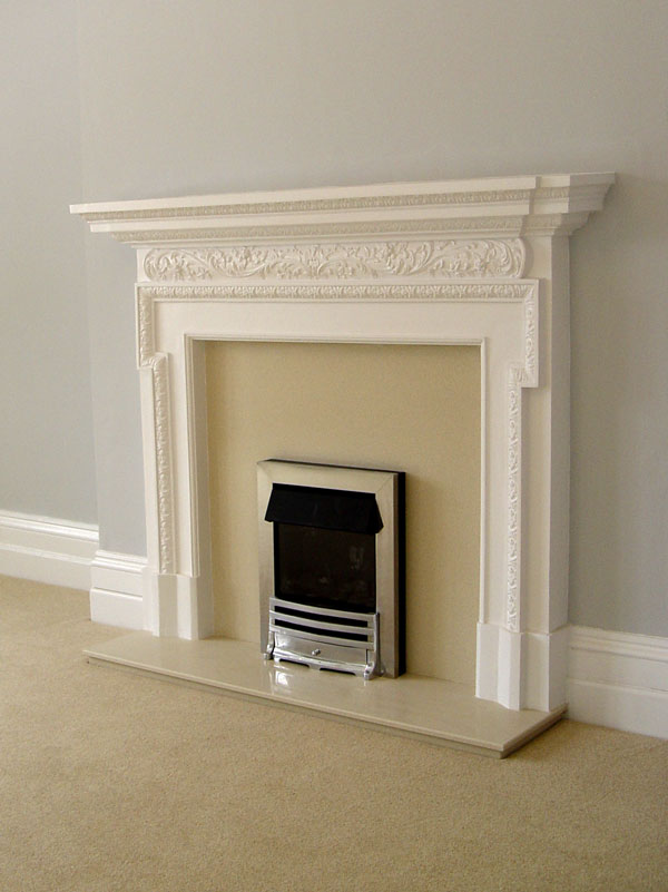 Plaster Fire Surrounds And Marble Backs And Hearths From