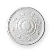 click to see enlargement of CC17 Floral Ceiling Rose