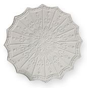 enlargement of CC42 Scalloped Floral Ceiling Rose