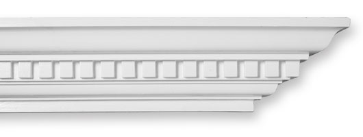 CO34 Plain Dentil Plaster Cornice