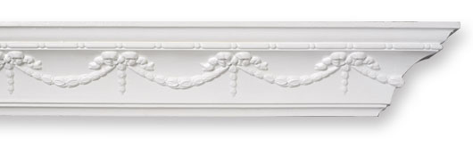 CO47 Swag & Drop Bead Plaster Cornice