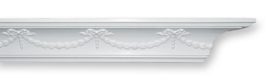 CO8 Swag & Bow Plaster Cornice
