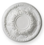enlargement of CC11 Small Acanthus Ceiling Rose